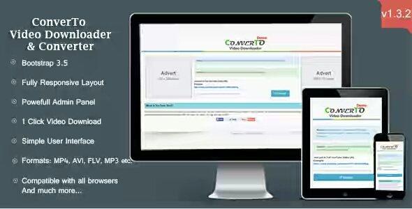 ConverTo v1.3.2 – Video Downloader & Converter PHP Script Is Here !!!